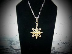 Gold Snowflake Necklace Gold Snowflake Charm by CreatedinTheWoods, $18.95