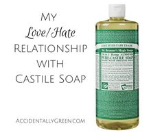 """If you mention castile soap in green circles, you'll probably hear overwhelmingly positive feedback. You can use it to clean everything. It's natural. It's safe. Heck, the Dr. Bronner's brand even markets it as """"magic soap."""" I do like using castile soap. But I don't always love it … mainly because of a few major disasters I've had while using it."""