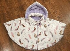 Minky Car Seat Poncho  Baby/Toddler/Child/Kid by SimplySplendidCo