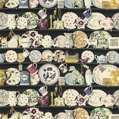 British  Wallpapers - Emma Bridgewater The Dresser Fabric Black/Multi DEMB223458, £50.00 (http://www.britishwallpapers.co.uk/emma-bridgewater-the-dresser-fabric-black-multi-demb223458/)