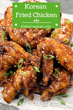 Super crunchy Korean-style fried chicken wings are a delicious appetizer, snack or side dish. Learn how to make this popular style of fried chicken at home. The twice-fried chicken comes out incredibly crispy but also very light. Making Fried Chicken, Korean Fried Chicken, Pan Fried Chicken Wings, Lime Chicken, Bbq Chicken, Easy Dinner Recipes, Easy Recipes, Easy Meals, Cooking Recipes