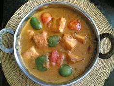 Kadai Paneer - Cottage Cheese Creamy Curry - Indian Food Recipes | Andhra Recipes | Indian Dishes Recipes | Sailu's Kitchen » All Recipes Indian Curry Recipes Indian Milk Recipes Indian Paneer Recipes Indian Vegetarian Recipes North Indian Recipes Recipes Vegetable Dishes Indian Food Recipes | Andhra Recipes | Indian Dishes Recipes | Sailu's Kitchen