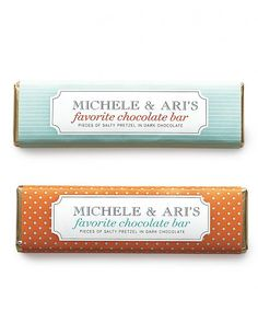 Personalized Chocolate-Bar Favor Label Template