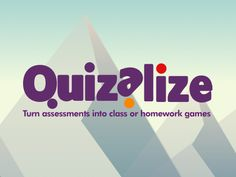 Quizalize lets you engage your class and deliver instant assessments for personalised learning on any computer, tablet or smartphone. It helps you quickly identify the strengths, weaknesses and learning gaps of individual students and intervene in real-time to give one-on-one help in the classroom.