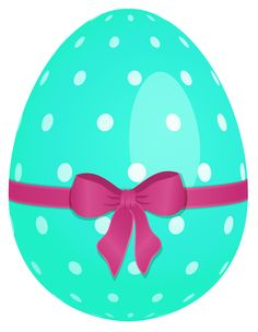 easter png sky blue easter egg with flowers and yellow bow png