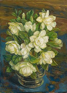 Emma Richardson Cherry. Bouquet of Jasmine. Late 19th - early 20th century