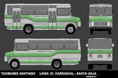 Buses, Chile, Vans, Vintage, Paper Toys, Paper Crafting, Santiago, Wooden Toy Plans, Old Advertisements