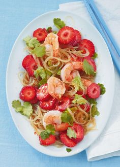 Glasnudel-Erdbeer-Salat - [ESSEN UND TRINKEN]