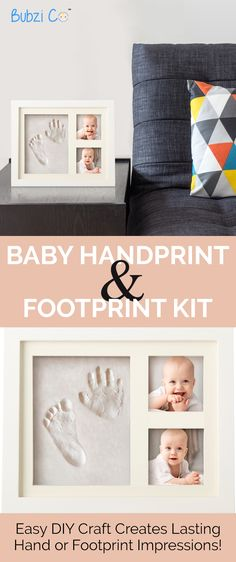 This baby keepsake project allows you to lovingly capture the essence of your precious baby by making impressions of his or her little hands and feet. With the addition of two photographs, it's a memento to cherish forever that your child will even appreciate as an adult someday.