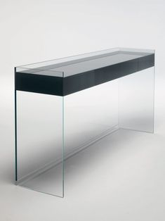 float glass console table by glas italia
