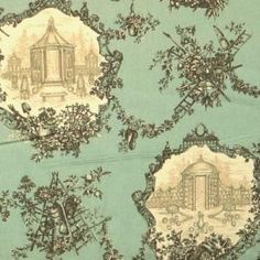 Beautifully handcrafted and hand-woven French toile adds a touch of class to any desk or counter display. Textiles, Textile Patterns, Chinoiserie, French Fabric, Wall Wallpaper, Decoration, French Vintage, Vintage World Maps, Holland