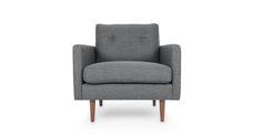 Noah Gravel Gray Armchair - Lounge Chairs - Bryght | Modern, Mid-Century and Scandinavian Furniture