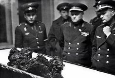 The remains of Vladimir Komarov, a man who fell from space.