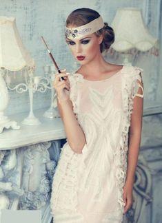 gatsby glamour wedding dresses ideas 29 moda vintage, pomysły na ślub, Gatsby Girl, Gatsby Look, Gatsby Dress, Gatsby Style, Flapper Style, 1920s Dress, Flapper Girls, Great Gatsby Fashion, 20s Fashion