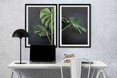 Dwa plakaty drukowane na wysokiej jakości satynowanym papierze o gramaturze 220.Ciągle modne plakaty botaniczne. soczysta zieleń pięknie prezentuje się na ciemnym, grafitowym tle.Sprzedawane bez ram.Wysyłamy w solidnych tubach ochro ...