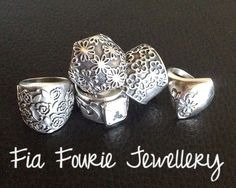 Silver CAD rings