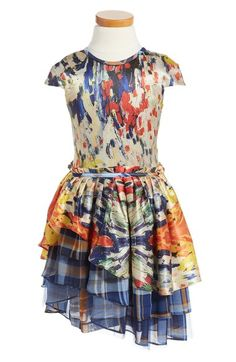 Alivia Simone Cassandra Tiered Silk Party Dress (Big Girls) available at #Nordstrom