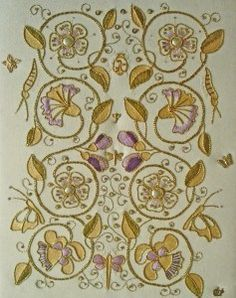 Wonderful Ribbon Embroidery Flowers by Hand Ideas. Enchanting Ribbon Embroidery Flowers by Hand Ideas. Jacobean Embroidery, Silk Ribbon Embroidery, Embroidery Files, Embroidery Thread, Embroidery Patterns, Lesage, Gold Work, Embroidery Techniques, Needlework