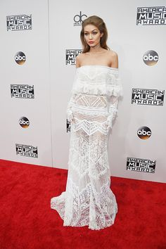 Cohost Gigi Hadid attends the 2016 American Music Awards at Microsoft Theater on November 20 2016 in Los Angeles California