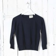 Button Backed Crew Neck Jumper