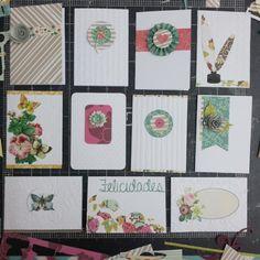 Tarjetas realizadas con retazos de papel