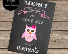 Poster - thank you teacher for these moments - slate-great teacher end of year school - A4 size