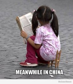 fbfunnyphoto: Little Doll Reading Book Funny Image Funny Pictures For Kids, Funny Photos, Funny Images, Funny Babies, Funny Kids, Cute Kids, Little Doll, Kids Reading, Make Me Smile