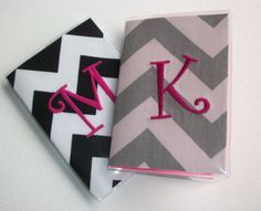 Vinyl Passport Cover / Holder / Case  Chevron  Zig by FLHCreations