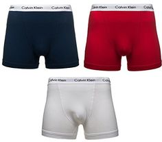 Calvin Klein Cotton Stretch 3 Pack Trunk, Blue/Red/White Multi Large - http://autowerkzeugekaufen.de/calvin-klein/l-calvin-klein-herren-boxershorts-trunk-3er-pack-4