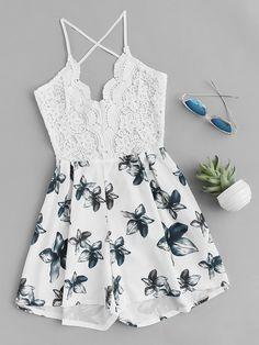 Отзывы покупателей о florals random lace panel criss cross b Cute Skirt Outfits, Cute Teen Outfits, Teen Fashion Outfits, Cute Summer Outfits, Outfits For Teens, Pretty Outfits, Cute Dresses, Dress Outfits, Dress Shoes