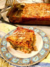 Watching What I Eat: Meatless Monday ~ Vegetarian Lasagna