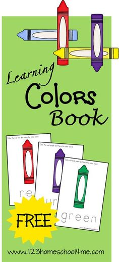 free learning colors book instant download - Kids Color Book