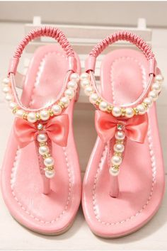 Pearl Detail Sandals for Little Girls 3 Colors Jane Little Girl Shoes, Baby Girl Shoes, Little Girl Fashion, My Little Girl, My Baby Girl, Kid Shoes, Little Princess, Cute Shoes, Girls Shoes