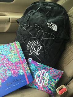 Monogrammed north face backpack > Lilly Pulitzer
