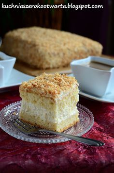 Polish Recipes, Vanilla Cake, Cheesecake, Food And Drink, Cooking Recipes, Sweets, Baking, Google Translate, Languages