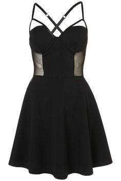bbce14bbe8 Mesh skater dress from Topshop Topshop Black Dress