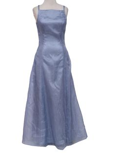 3660c078183a 1990's Wicked 90s Maxi Cocktail Dress 90s -Care Label- Womens shimmery  light blue background