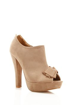 Bow Peep Toe Ankle Booties