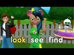 A sample from Rock 'N Learn Sight Words. This video covers 62 sight words. It includes all words from the Dolch Pre-Primer list and several from the Fry's list.