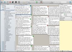 Quick Scrivener tip: freeform thinking on the cork board. I didn't know Scrivener had a free-form mode; must try it out.