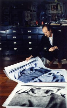 Massimo Osti in his studio.