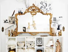 white and gold vignette
