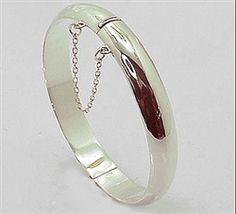 Hinged silver bangle Internal diameter 60mm $46.25 Silver Bangles, Jewerly, Jewelry Accessories, Gemstone Rings, Gemstones, Jewelery, Accessories, Jewlery