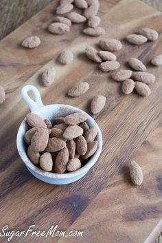 Salty-sweet Sugar-Free Cocoa-Dusted Almonds -- use raw cacao powder for a unique Phase 3 snack