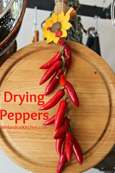 This simple method for drying hot peppers gives you all the tools you need to dry those extra garden peppers for winter.  You can preserve extra food in minutes without a dehydrator.