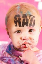 Food and pacifiers are great but let's be honest, your baby would rather get RAD. www.colormerad.com