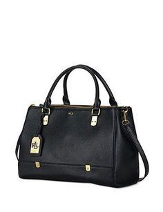 064157da1840 Lauren Ralph Lauren Morrison Triple Zip Leather Satchel Ralph Lauren  Handbags