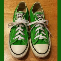 f2af56b4b45be Shop Women s CONVERSE Green size 7 Shoes at a discounted price at Poshmark.  Description  🍀Converse all stars 🍀Color green 🍀Great condition 🍀Size  women ...