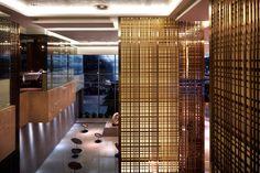 Lobby Lounge at Sheraton Beijing Dongcheng Hotel, designed by HBA/Hirsch Bedner Associates.