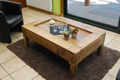 Table basse en palette